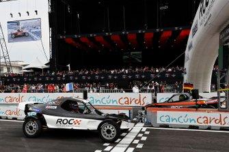 Loic Duval races Mick Schumacher
