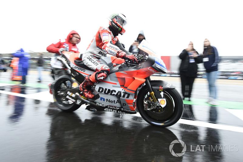 Jorge Lorenzo, Ducati, durante el Gran Premio de Gran Bretaña