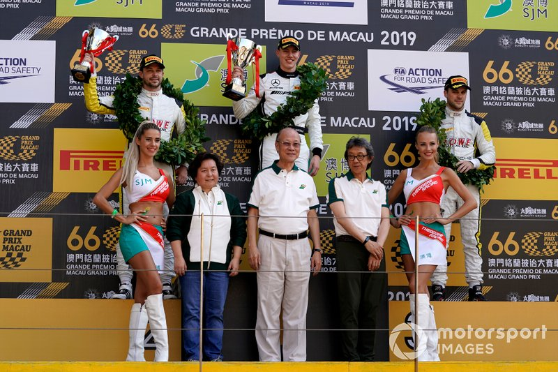 Podium: Race winner #999 Mercedes-AMG Team GruppeM Racing Mercedes AMG GT3: Raffaele Marciello, second place #98 ROWE Racing Porsche 911 GT3 R: Earl Bamber, third place #99 ROWE Racing Porsche 911 GT3 R: Laurens Vanthoor