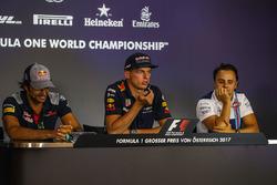 Carlos Sainz Jr., Scuderia Toro Rosso, Max Verstappen, Red Bull Racing ve Felipe Massa, Williams