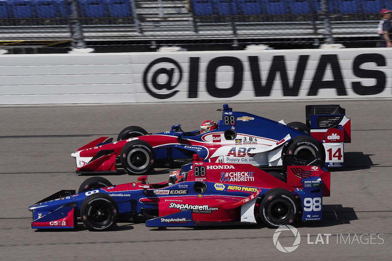 Alexander Rossi, Herta - Andretti Autosport Honda Carlos Muñoz, A.J. Foyt Enterprises Chevrolet