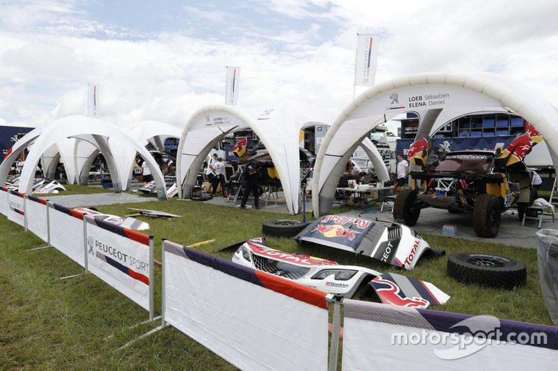 Service park Team Peugeot Sport