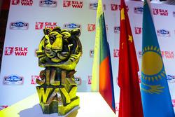 2017丝绸之路拉力赛发布会,虎头标志
