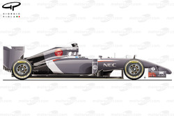 Sauber C33 side view