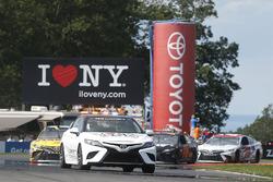 Toyota Camry pace car leads Daniel Suárez, Joe Gibbs Racing Toyota, Martin Truex Jr., Furniture Row Racing Toyota, Matt Kenseth, Joe Gibbs Racing Toyota
