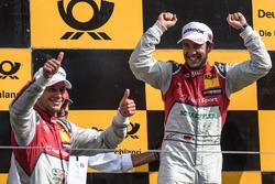 Podium: Loic Duval, Audi Sport Team Phoenix, Audi RS 5 DTM, Mike Rockenfeller, Audi Sport Team Phoenix, Audi RS 5 DTM