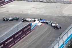 Jérôme d'Ambrosio, Dragon Racing, Antonio Felix da Costa, Amlin Andretti Formula E Team, Loic Duval, Dragon Racing, Adam Carroll, Jaguar Racing