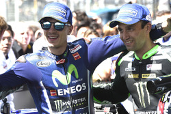 Yarış galibi Maverick Viñales, Yamaha Factory Racing, 2. Johann Zarco, Monster Yamaha Tech 3