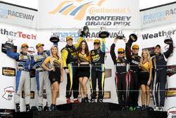 GS podium: winners Al Carter, Steven Phillips, second place Trent Hindman, Cameron Cassels, third place Jack Roush Jr., Nathan Stacy, Scott Maxwell