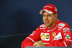 Sebastian Vettel, Ferrari, lors de la conférence de presse