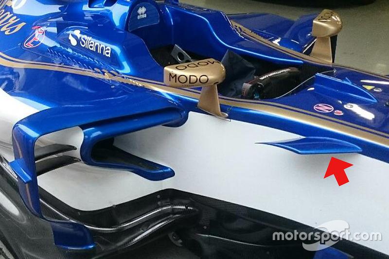 Sauber C36 side detail