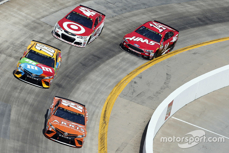 Daniel Suárez, Joe Gibbs Racing Toyota, Kyle Busch, Joe Gibbs Racing Toyota