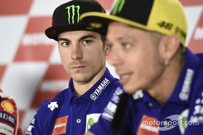 Maverick Viñales, Yamaha Factory Racing; Valentino Rossi, Yamaha Factory Racing