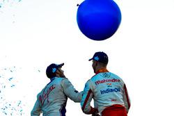 Сэм Бёрд, DS Virgin Racing, и Феликс Розенквист, Mahindra Racing