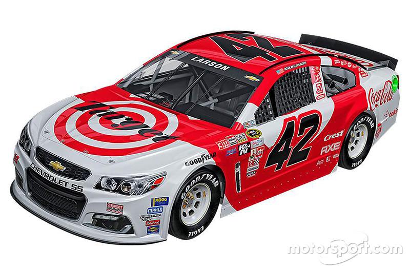 Throwback-Design von Kyle Larson, Chip Ganassi Racing, Chevrolet
