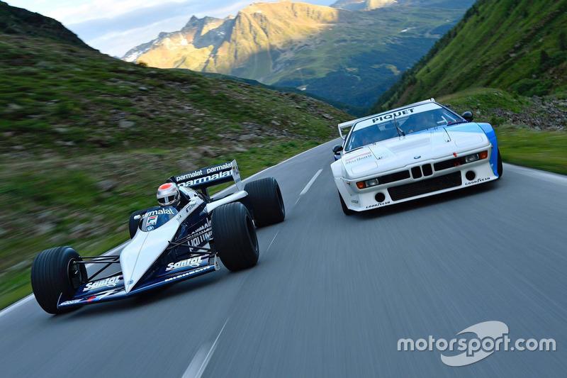 نيلسون بيكيه الابن يقود سيارة والده في الفورمولا واحد برابهام بي إم دبليو