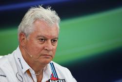Pat Symonds, Williams director técnico en la Conferencia de prensa FIA