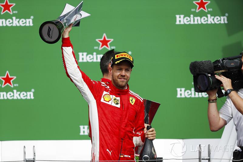 Winnaar: Sebastian Vettel