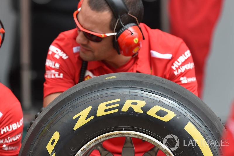 Ferrari and Pirelli tyre