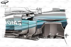 Mercedes F1 W08 barge board