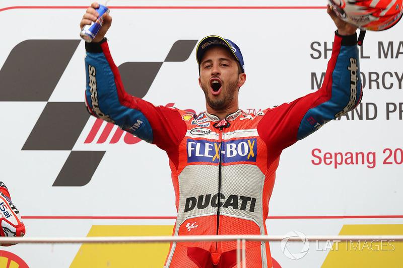 Andrea Dovizioso celebra su sexta victoria del año