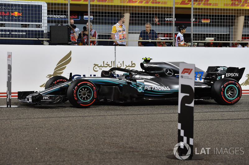 Valtteri Bottas, Mercedes-AMG F1 W09 EQ Power+ in parc ferme