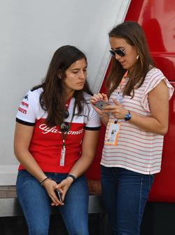 Paula et Tatiana Calderon, pilote d'essais Sauber