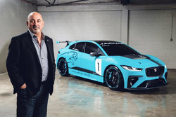Bobby Rahal with the Jaguar I-Pace