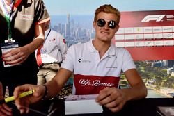 Marcus Ericsson, Sauber at the autograph session