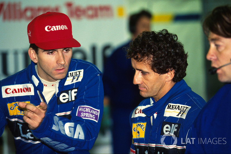 Damon Hill, Williams y Alain Prost, Williams