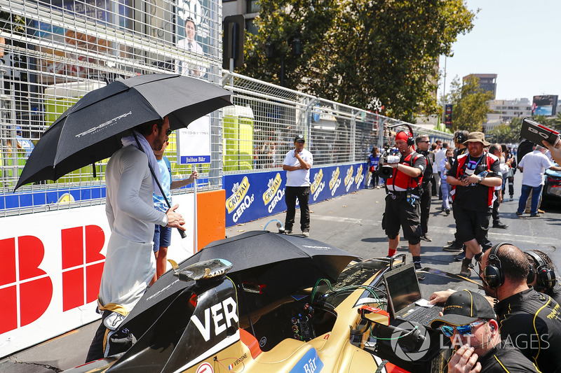 Jean-Eric Vergne, Techeetah chats to the grid kid