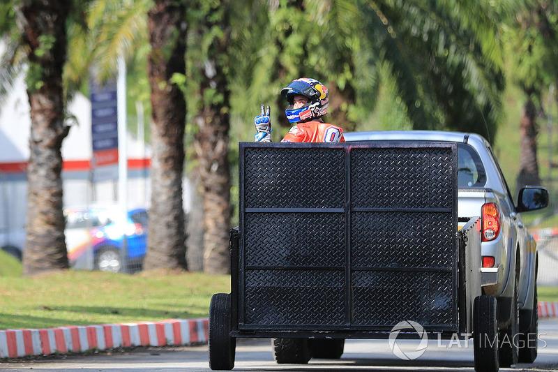 Андреа Довіціозо, Ducati Team, після аварії