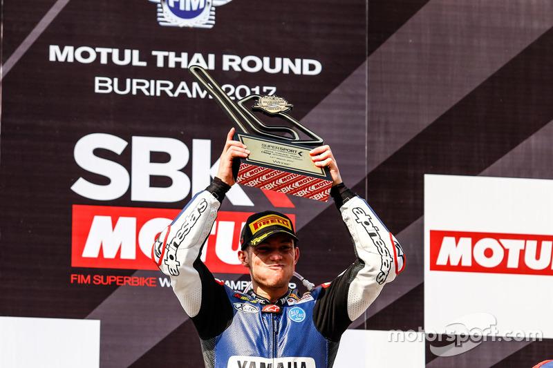 Podium: ganador, Federico Caricasulo, GRT Yamaha Official WorldSSP Team