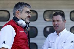 Dieter Gass, Head of DTM Audi Sport mit Tom Kristensen