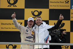Podium: Maxime Martin, BMW Team RBM, BMW M4 DTM, Bart Mampaey, BMW Team RBM