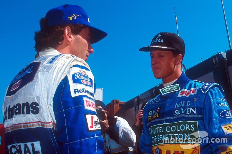 Айртон Сенна, Williams, и Михаэль Шумахер, Benetton