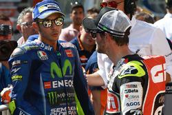 Sıralamalarda 2. sırada yer alan Valentino Rossi, Yamaha Factory Racing, Cal Crutchlow, Team LCR Honda