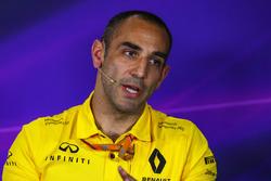 Cyril Abiteboul, Managing Director Renault Sport F1 nella conferenza stampa