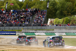 Petter Solberg, PSRX Volkswagen Sweden, VW Polo GTi; Johan Kristoffersson, Volkswagen Team Sweden, VW Polo GTi; Andreas Bakkerud, Hoonigan Racing Division, Ford