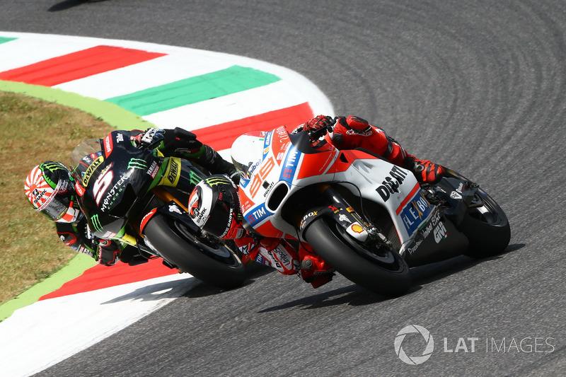 Johann Zarco, Monster Yamaha Tech 3; Jorge Lorenzo, Ducati Team