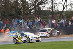 Aiden Moffat, Laser Tools Racing Mercedes Benz A-Class and Ashley Sutton, Team BMR Subaru Levorg