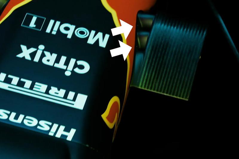 Détails des caméras de la Red Bull Racing RB13