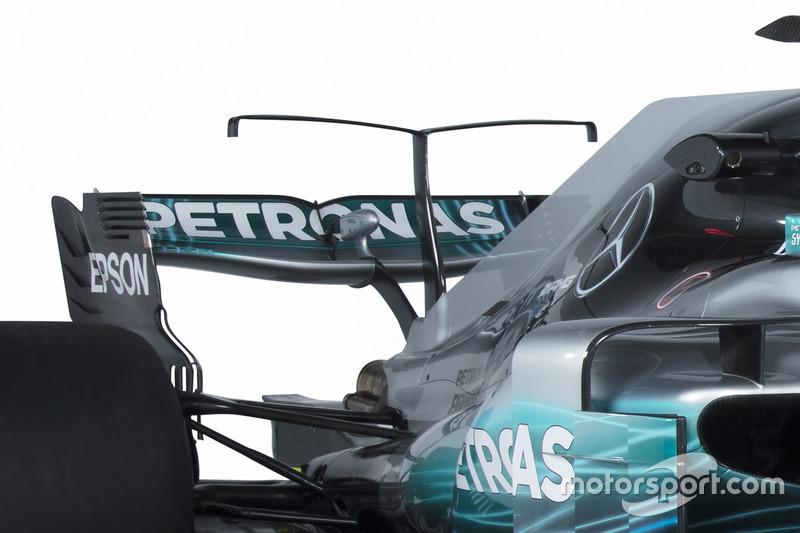 Mercedes AMG F1 W08: Motorhaube, Winglet und Heckflügel