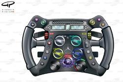 Mercedes W04 steering wheel