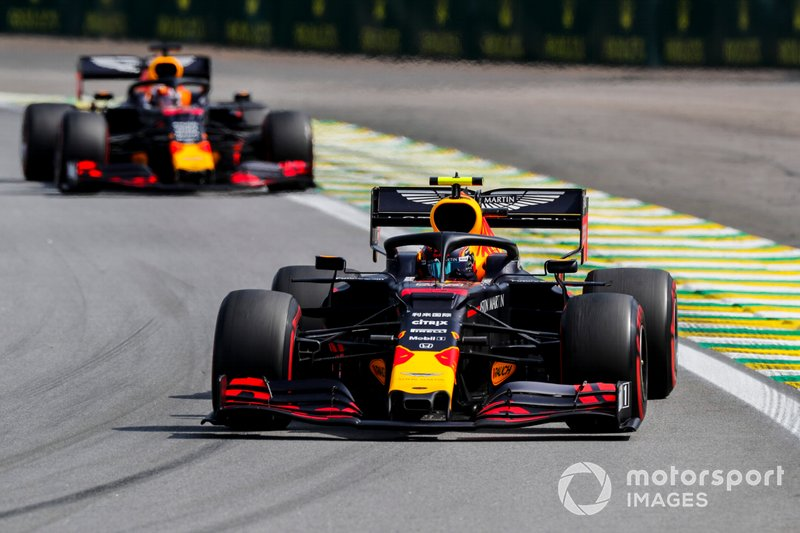 Alexander Albon, Red Bull RB15 and Max Verstappen, Red Bull Racing RB15