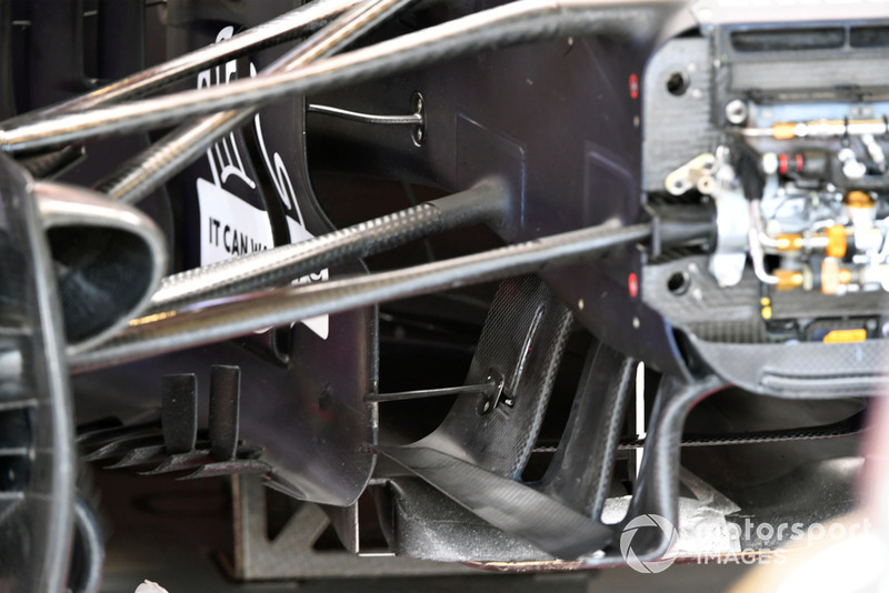 Red Bull Racing RB14 front suspension and aero detail