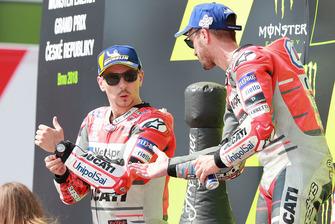 1. Andrea Dovizioso, Ducati Team, 2. Jorge Lorenzo, Ducati Team