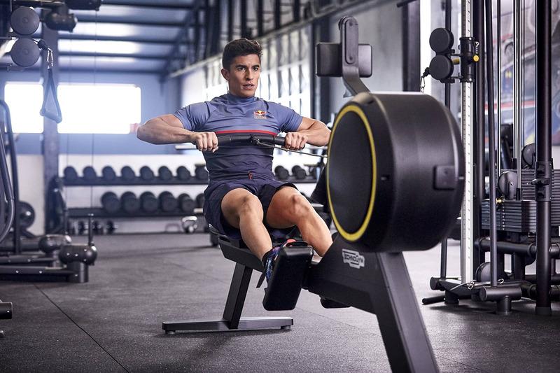 Marc Marquez berlatih di gym di Cervera, Spanyol