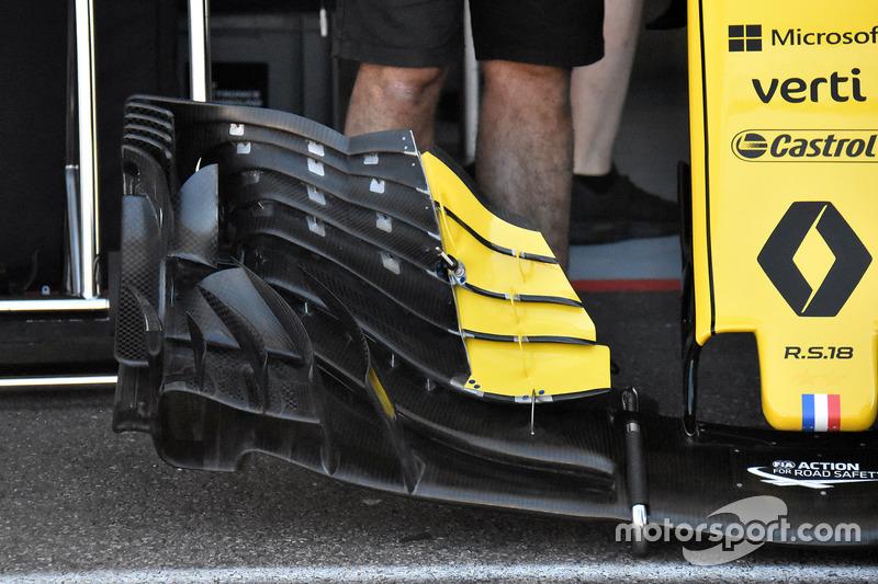 Новое переднее антикрыло Renault Sport F1 Team RS18