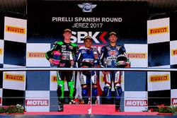 Podium: ganador, Galang Hendra, Yamaha, segundo, Scott Deroue, Kawasaki, tercero, Alfonso Coppola, Yamaha